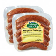 Merguez Sausage -  Spicy Lamb Sausages - 100% Lamb - Pork-Free - 6 Links - (Pack of 2)