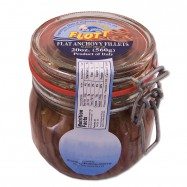 Flat Fillets of Anchovies in Pure Olive Oil in an Hermetic Glass Jar - 20oz
