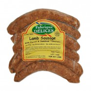 Lamb Sausages with Fennel and Sun-Dried Tomatoes - 100% Lamb - Pork-Free - 6 Links - (Pack of 2)
