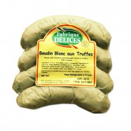 Boudin Blanc with Truffles - White Pudding Sausages - 4 links -1Lb - (Pack of 2)