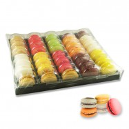 French Macarons Assortment - Exotic Selection - 5 Flavors - 35 Pieces