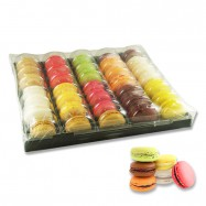 French Macarons Assortment - Traditional Selection - 6 Flavors - 35 Pieces