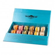 All Natural French Macarons in a Gift Box - Gluten-Free - 6 Flavors - 12 Pieces