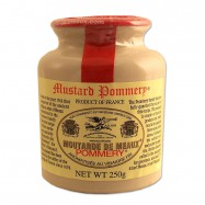 French Whole Grain Mustard in a Crock - Moutarde de Meaux - 8.8oz