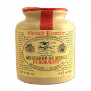 French Whole Grain Mustard in a Crock - Moutarde de Meaux - 17.5oz