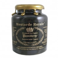 French Whole Grain Royal Mustard flavored with Cognac in a Crock - Moutarde de Meaux - 8.8oz