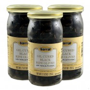 Oil Cured Ripe Black Olives with Herbs of Provence - 7.5oz - (Pack of 3)