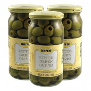 Green Pitted Olives - 5.5oz - (Pack of 3)