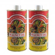 French Walnut Oil in a Tin - 16.9oz - (Pack of 2)