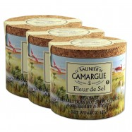 Fleur de Sel from Camargue - French Natural Sea Salt - 4.4oz - (Pack of 3)