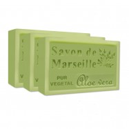 Aloe Vera Pure French Marseille Soap - 4.4oz - (Pack of 3 bars)