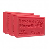 Cherry Pure French Marseille Soap - 4.4oz - (Pack of 3 bars)