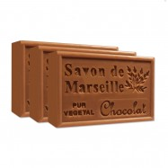 Chocolate Pure French Marseille Soap - 4.4oz - (Pack of 3 bars)
