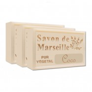 Coconut Pure French Marseille Soap - 4.4oz - (Pack of 3 bars)