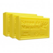 Lemon Pure French Marseille Soap - 4.4oz - (Pack of 3 bars)