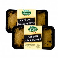 Country Style Pate with Black Pepper - 7oz - Set of 2 Terrines