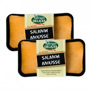 Smoked Salmon & Spinach Mousse - 7oz - Pork Free - Set of 2 Terrines