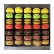 French Macarons Assortment - 35 Pieces - 7 Flavors  - Classic Selection