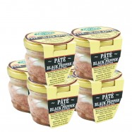 Country-Style Duck & Pork Pate with Black Pepper - 2.8oz Glass Jar - The Set of 6 Jars