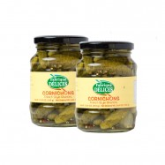French Gherkins in a Glass Jar - Cornichons - All Natural - 10.9oz - (Pack of 6)