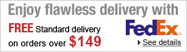 Enjoy flawless delivery with FREE Standard delivery on orders over $149